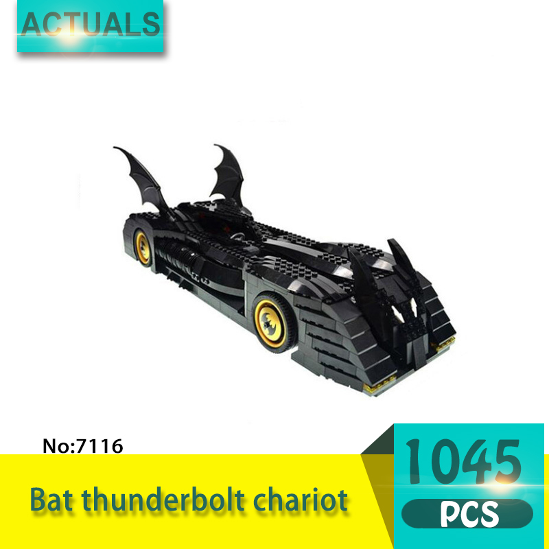 Decool 7116 1045Pcs Super heroes Series Bat thunderbolt chariot Model Building Blocks Bricks Toys For Children Gift decool 7118 batman chariot super heroes of justice building block 518pcs diy educational toys for children compatible legoe