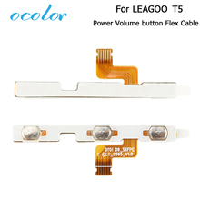 ocolor For LEAGOO T5 Side Power On Off Button Volume Key Flex Cable FPC Repair Parts