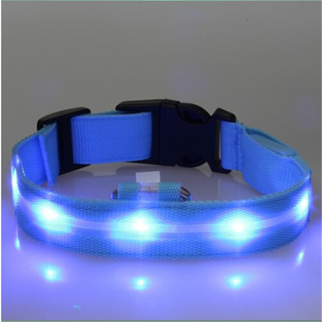 High Quality Pet LED Dog Collar Night Safety LED Flashing Glow LED Pet Supplies Dog Cat Collar Small Dogs Collars For Puppy 4