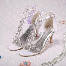 Модные цвета слоновой кости сандалии лето женщины на каблуках свадебные бесплатная доставка на заказ ручной работы