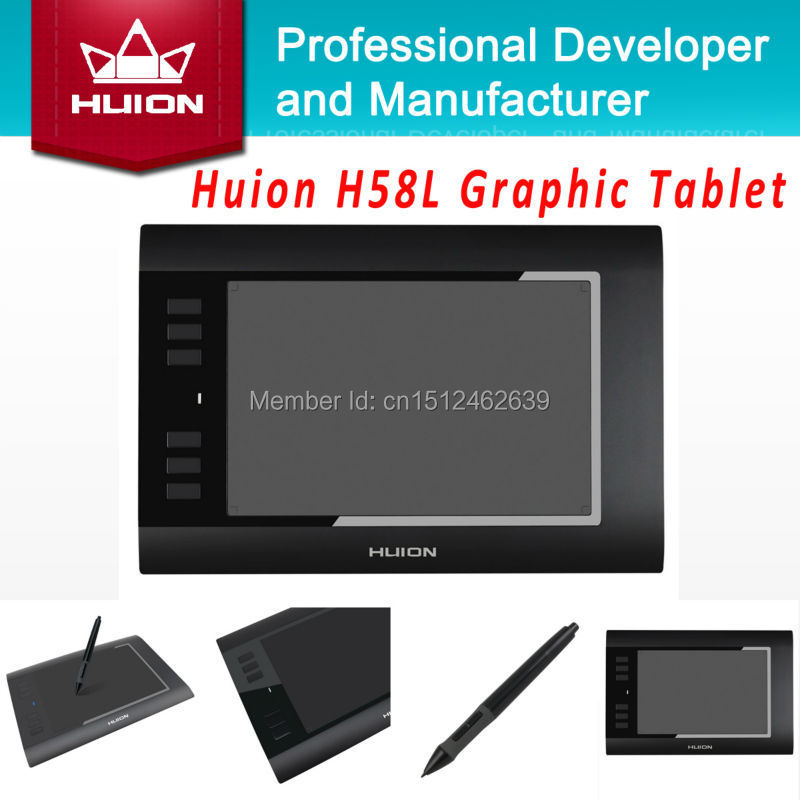 "Huion H58L 8"" x 5″ 2048 Levels Digital Pen Tablet Graphic Painting Tablet USB Professional Kids Drawing Tablet With Digital Pen"