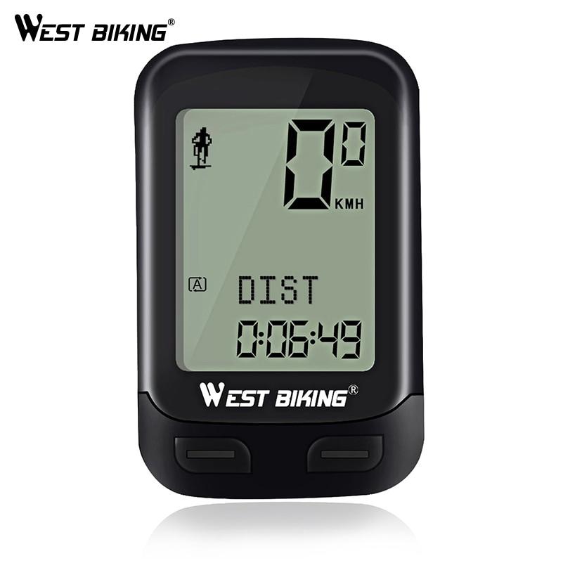 WEST BIKING Waterproof 5 Language Bike Computer Wireless Stopwatch MTB Road Bike Speedometer Cycling Odometer Bicycle Computer