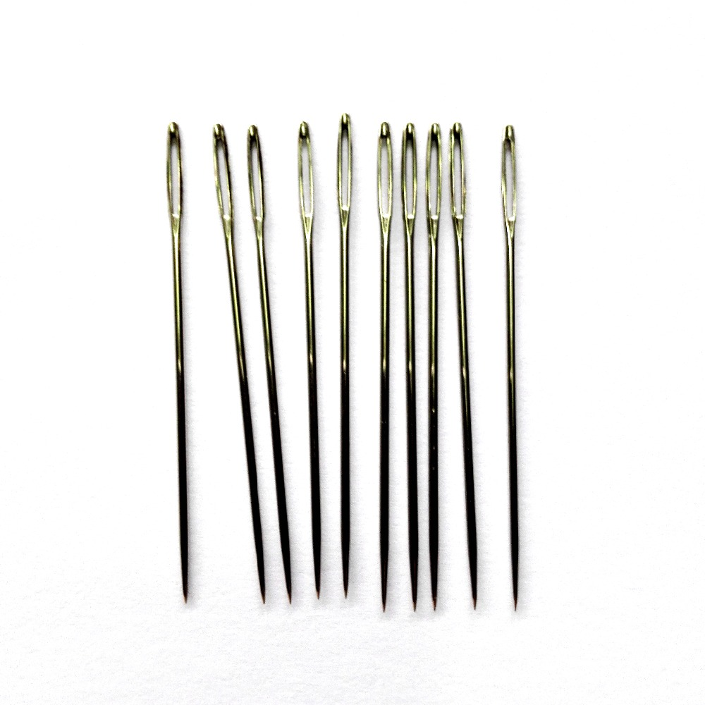 2th 10pcs/lot 5.5cm big eye sharp Needles for Ribbon embroidery big hole bodkin Craft art hand sewing Tool DIY needlework