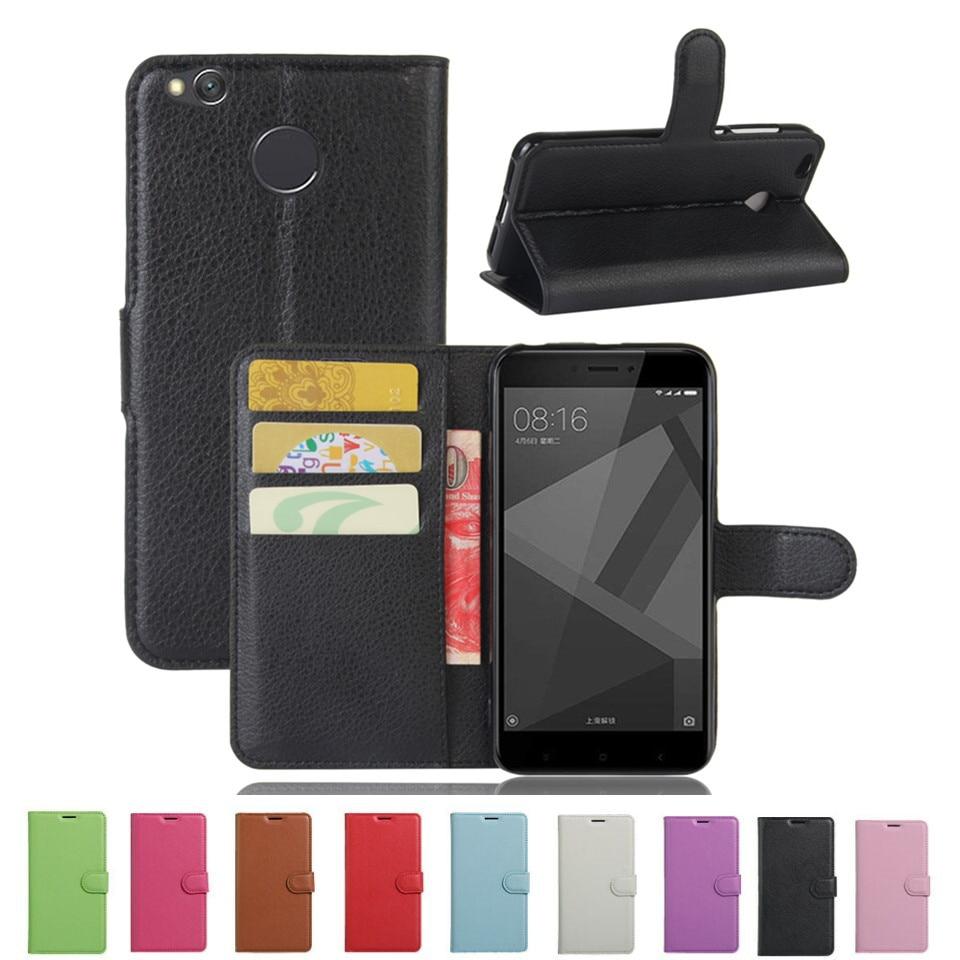Xiaomi Redmi 4x Funda de lujo de cuero de la PU Funda trasera para - Accesorios y repuestos para celulares
