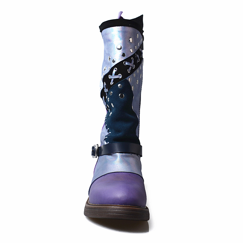 Bottine Pour Clouté Sangle En Femme Caoutchouc Vintage Moto Chaussures Bottes Femmes Dames Gladiateur Design Appartements wqBpzxH6Z