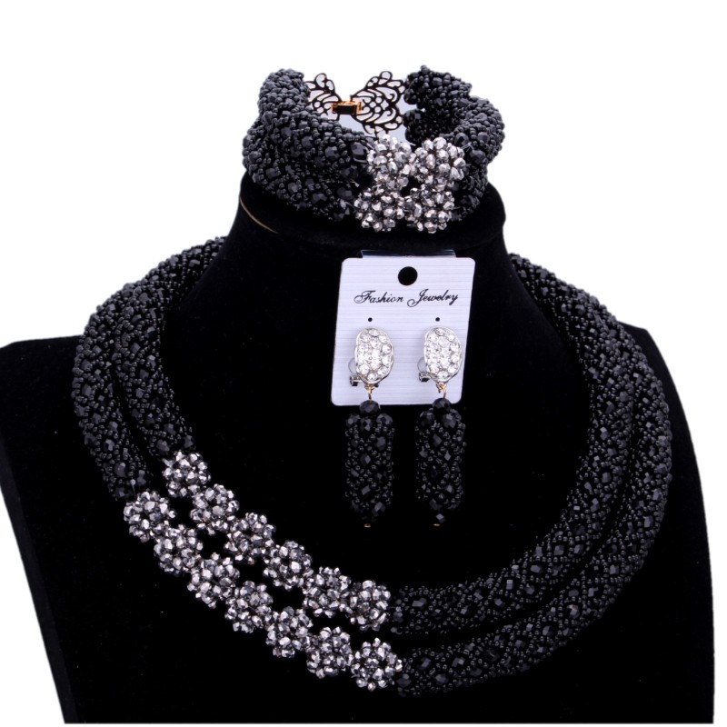 Trendy Black Jewelry Sets For Women African Nigerian Jewelry Set 2 Layers Silver Balls Dubai Necklace Set 2018 Free Shipping Trendy Black Jewelry Sets For Women African Nigerian Jewelry Set 2 Layers Silver Balls Dubai Necklace Set 2018 Free Shipping