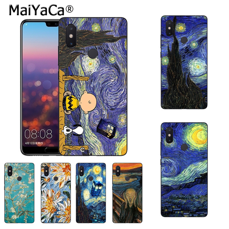 Provided Maiyaca Scream By Munch Van Gogh Starry Sky Oil Painting Phone Case For Xiaomi Mi 8 Se 6 Note3 Mix2 Redmi 5 5plus Case Coque Relieving Heat And Thirst. Half-wrapped Case Cellphones & Telecommunications