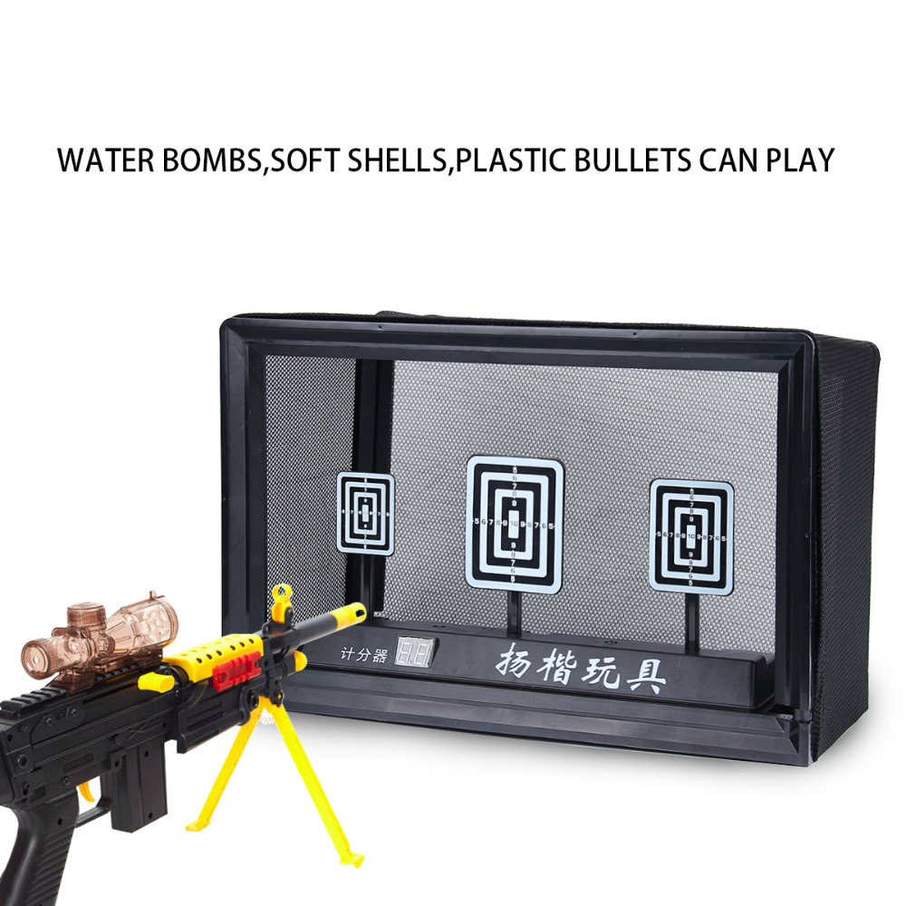 Gun Toy Accessories Electric Shooting Scoring Target 3S Automatic Restore For Electric Bursts of Water Pistol Children Outdoor 2017 classic toy gun target accessories for nerf gun practice shooting target family entertainment toy