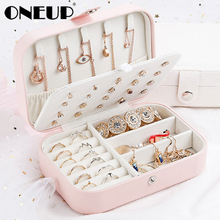 ONEUP Jewelry Organizer Display Travel Jewelry Case Boxes Makeup Lipstick Storage Box Beauty Container Necklace Birthday Gift