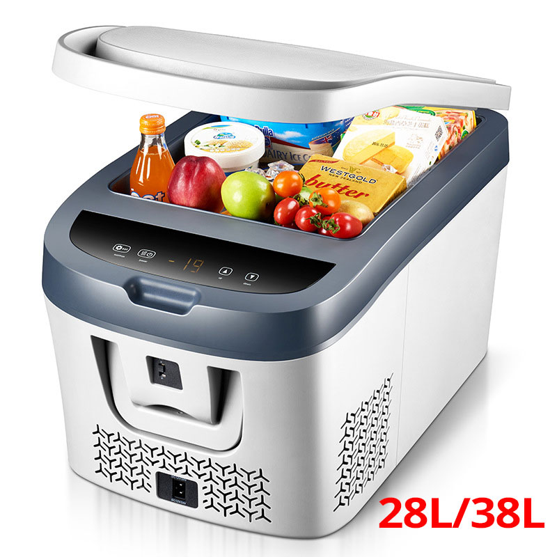 28L/38L Car Mini Fridge Refrigerator Compressor 12V/24V Mini Refrigerator Car Fridge Car Refrigerator    Camping Nevera Portatil|Refrigerators| |  - title=