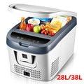 28L/38L Mini compresor de refrigerador de coche 12 V/24 V Mini refrigerador de coche nevera portátil