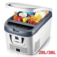 28l/38l carro mini geladeira geladeira compressor 12 v/24 v mini geladeira geladeira carro geladeira carro geladeira acampamento nevera portatil|Geladeiras| |  -