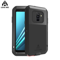 Love Mei For Samsung Galaxy A6 2018 Armor Case Metal Shockproof Cover For Galaxy A6 Plus 2018 Case Waterproof For Galaxy A6 2018