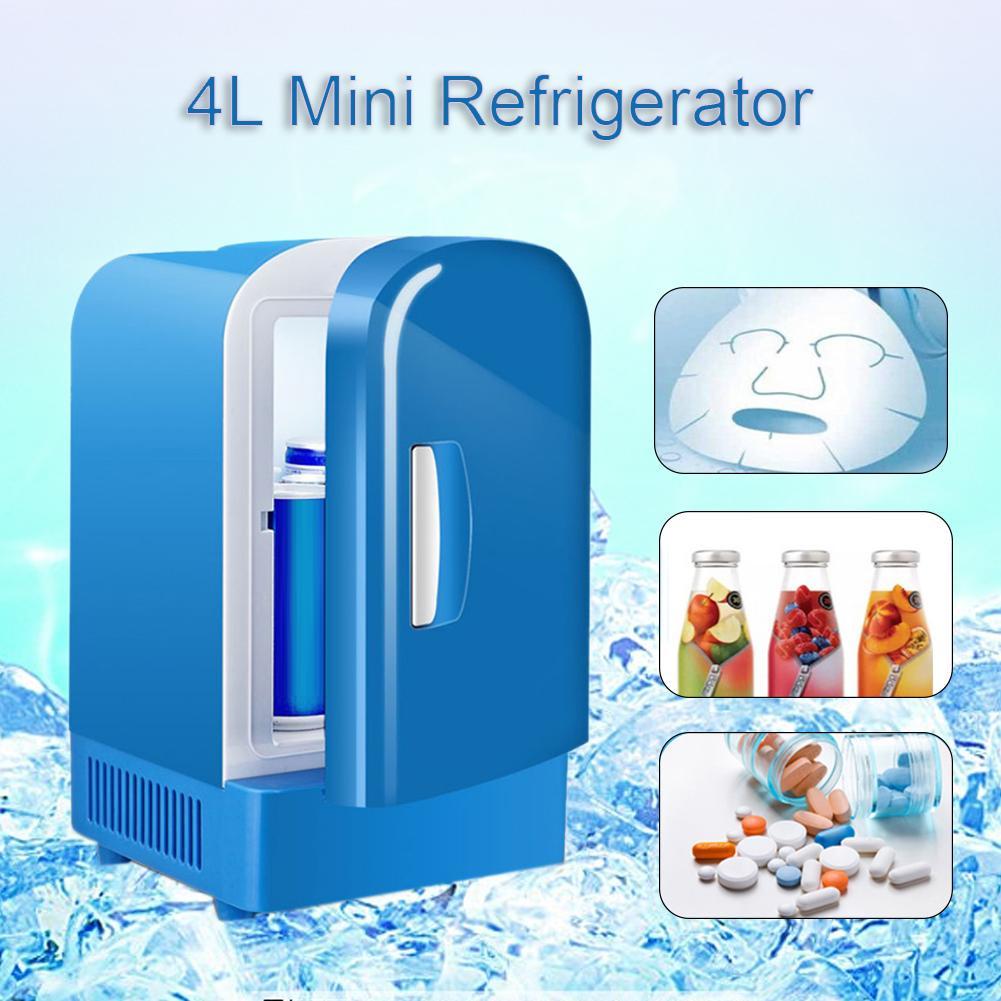Portable 12V Mini 4L Refrigerators Cooling Warming Fridge Freezer Cooler Travel For Auto Car Home Office Outdoor Picnic