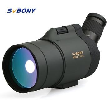 SVBONY 25-75x70 MAK Cannocchiale Telescopio SV41 Rifrazione Zoom Ottiche da caccia BAK4 Prisma A Lungo Raggio Impermeabile w/Treppiede F9334