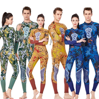 Wetsuit Women 3MM Neoprene Camouflage Resistant One piece Swimsuit Couple Spearfishing Swimming Snorkeling Surfing Diving Suits
