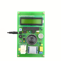STC89C52 GSM 51 SCM School bus safety monitoring system design integrated circuit Voice alarm kit Electronic training lcd1602