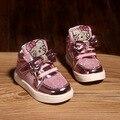 2017 nueva primavera coreano shoes chicas entrenadores shoes botas de los niños