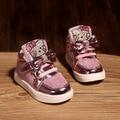 2017 primavera new coreano shoes meninas formadores shoes botas para crianças