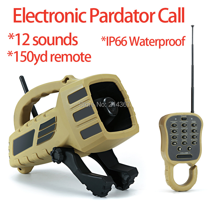 12 Prove Sounds Electronic Pardator Call 150yd Remote Hunting Decoy IP66 Waterproof Coyote Howls Sounds Wildlife
