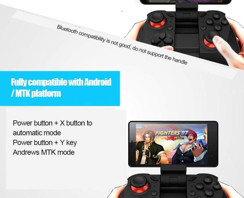 Hot!MOCUTE Wireless Bluetooth Games Handle 3.0 Controller Dual Joystick for Iphone and Android System & Laptop and VR 3D Glasses 5