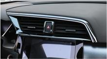 Автомобиль-Стайлинг интерьеров Предупреждение свет Пресс Планки автомобилей вентиляционные планки для honda civic 10th 2016 2017 2018 аксессуары