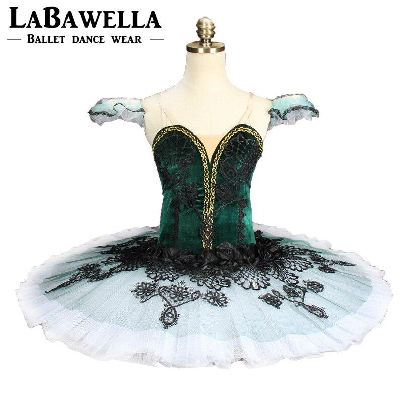 Emeralda Pancake Tutu gyermekzöld Don Quixote balett - Újdonság