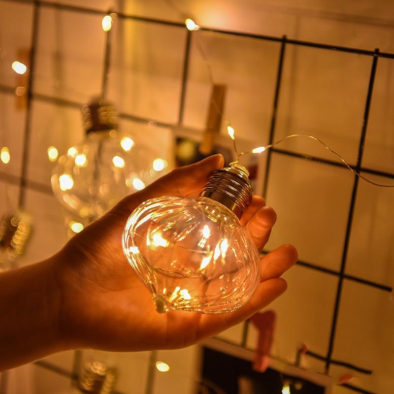 100Led Fata Forma di Cipolla 9 cm Grande Lampadina Luminaria Luci Stringa Filo di Rame 3 m LED Decorazione Per La Ghirlanda Di Natale luci Catena