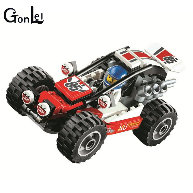 (GonLeI) 10644 87Pcs City Figures Racing Car Sand Buggy Model Building Kits Blocks Bricks Toy Vehicles For Children neje yw0007 2 diy puzzle toy space sand air magic clay plasticine sand for kids pink 0 5kg