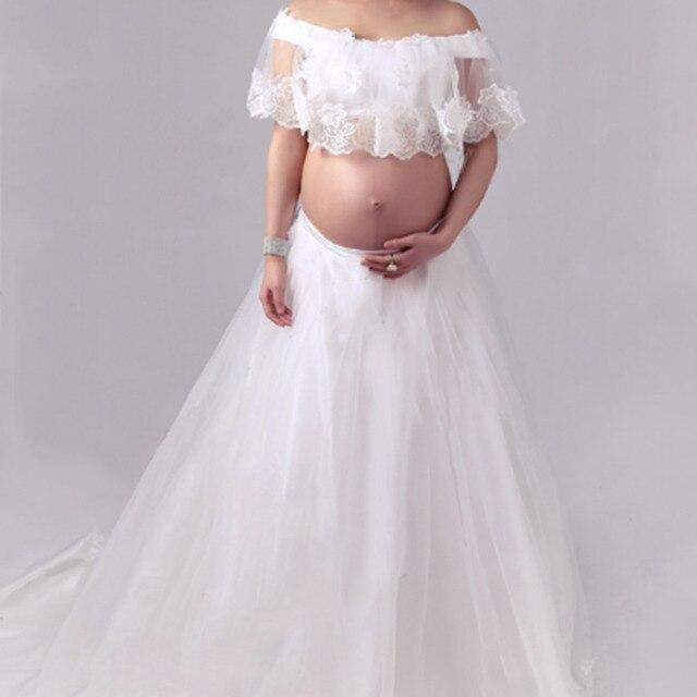 9bc8aa4e3 Vestido de maternidad encaje blanco maternidad fotografía Prop moda sesión  de fotos ropa para mujeres embarazadas