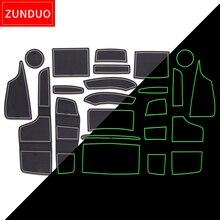 ZUNDUO Porta slot pad Per FORD RANGER 2015-2019 Porta per Interni Pad/Tazza di tappetini antiscivolo ROSSO BLU BIANCO
