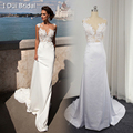 Lebanon Design Wedding Dresses Sleeveless Sheath Transparent Tulle Lace Sexy Bridal Gown Custom Made Real Photo