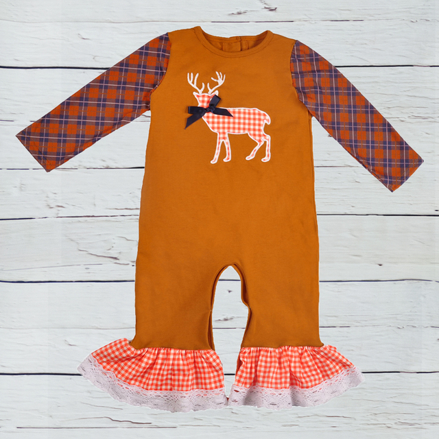 9b11da4c196 Baby Rompers Newborn Baby Jumpsuit 2019 Full Sleeve Fall Christmas Costume  Outfit Factory Wholesale Boutique Clothes
