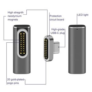 Image 2 - Magnetische USB C Adapter, typ C Typ C USB 3.1 VeIDI 4 K @ 60 Hz Hohe Auflösung Unterstützt High Speed Magnet USB C datum Adapter