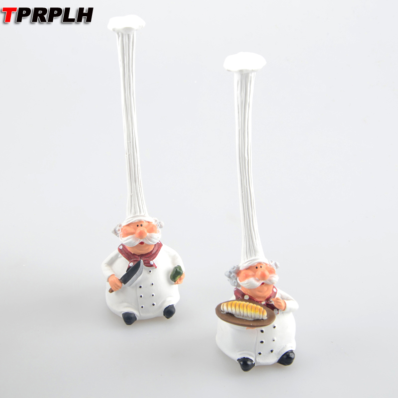 Tprplh 2pcs Lot American Rural Style Resin Top Hat Chef Cook Kitchen Dining Room Cabochon