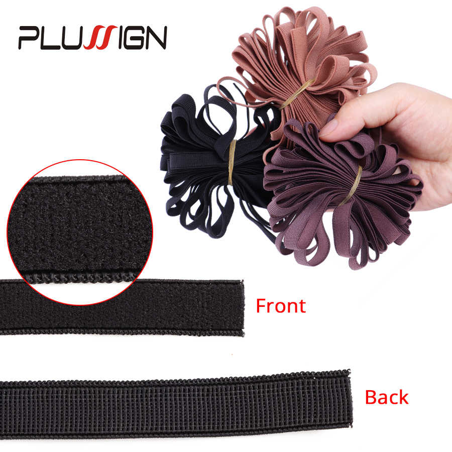 Plussign Эластичная лента 0,43 дюймов широкий Плетеный с эластичной резинкой для детей возрастом от 5 до 10 двор ремесло; резинка для волос, обтянутая тканью повязка под парик вязаная эластичная с Тяжелая стрейч