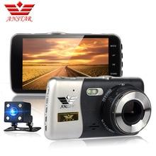 Anstar nuevo coche dvr de doble lente de 4 pulgadas cámara del coche HD 1080 P dash cam video recorder monitor de Estacionamiento de visión nocturna Dash cámara