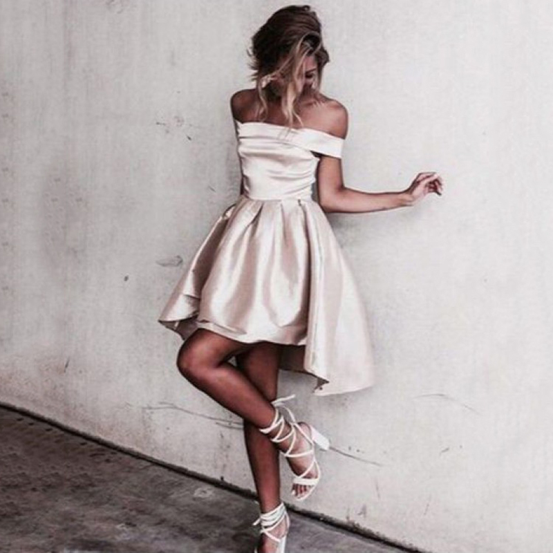 Sexy Boat Neck Short   Bridesmaid     Dresses   2018 Simple African Bridal Prom   Dress   Party Gowns Maid Of Honor   Dress   Custom Made