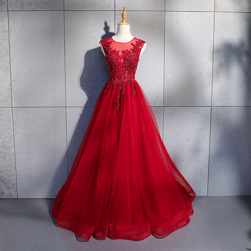 High Quality Wedding Guest   Dress   Illusion Appliques Tulle Beading Scoop Illusion Off The Shoulder   Bridesmaid     Dresses