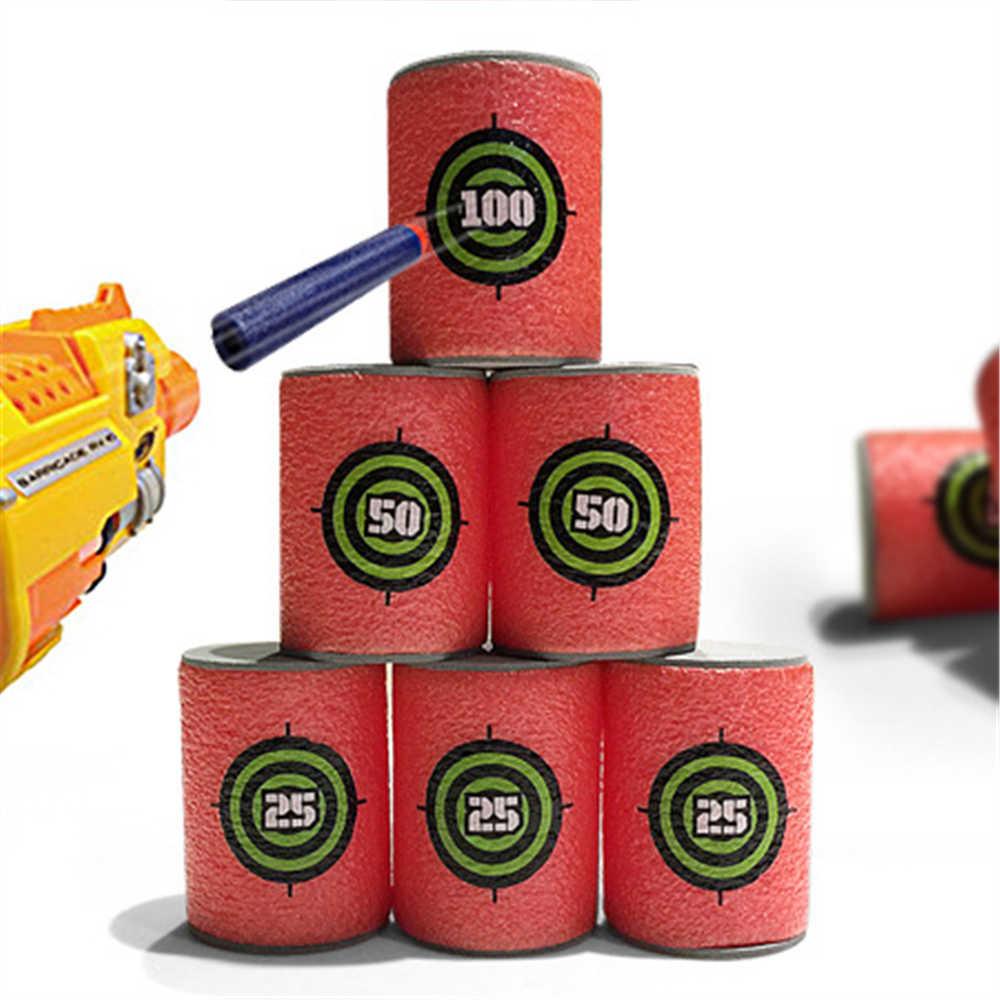 6 sztuk/zestaw EVA miękki pocisk cel pistolet strzelać Dart dla Nerf n-strike Elite Blaster zabawki dla dzieci-czerwony