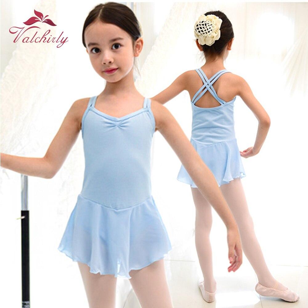 Girls Ballet Dance Dress Tutu Leotard Kids Wear Children Performance Costumes Ballerina Skill Use Soft Lace Skirt