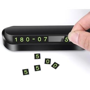 Image 2 - 1 Set Auto di Parcheggio Temporaneo Del Telefono Numero Magnetico Piastra della Scheda di Auto Nastro adesivo Auto Parco di Parcheggio Slot Per Schede accessori Per auto