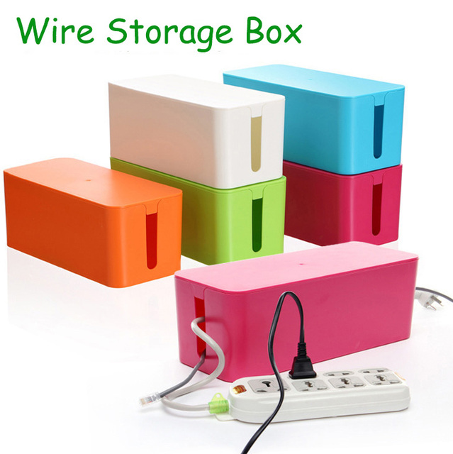 2016 ABS Material Wire Storage Box Cable Manager Organizer Box Power Line Storage Cases Junction Box Household Necessities New