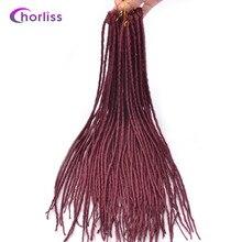 """Chorliss мягкие дреды волос 22 """"(56 см) химическое вязанная косами одного заканчивается бордовый ужаса волосы 1 шт. 24 корни/pc 100 г"""
