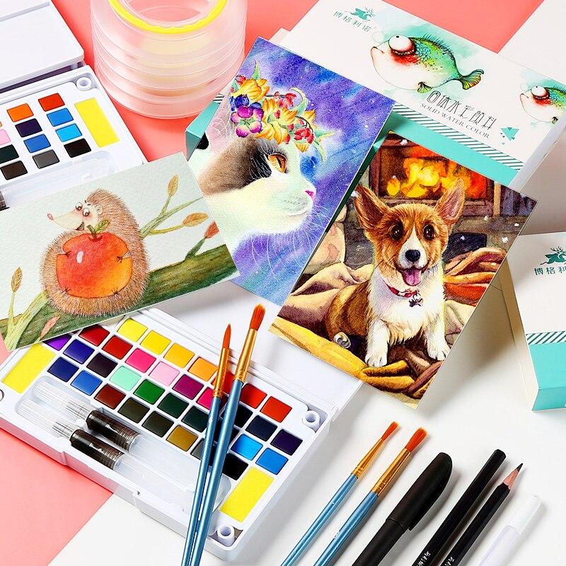 para a Pintura do Artista Cores Profissional Aquarela Tintas Aquarela