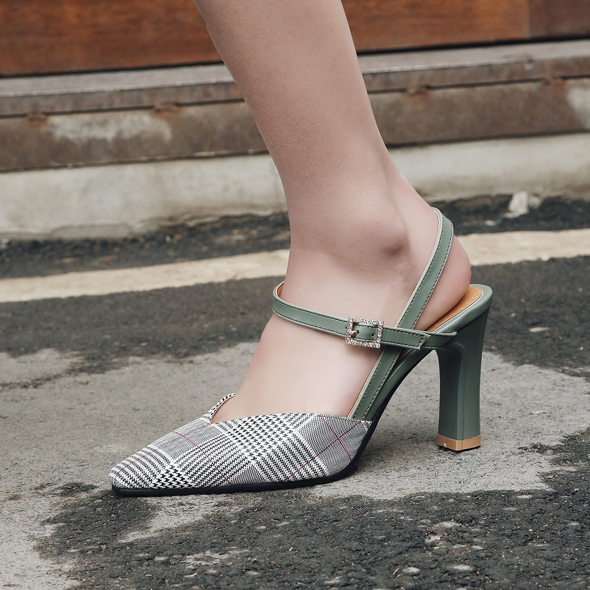 2019 summer new fashion with pointed four seasons women 39 s shoes large size sandals in Women 39 s Vulcanize Shoes from Shoes