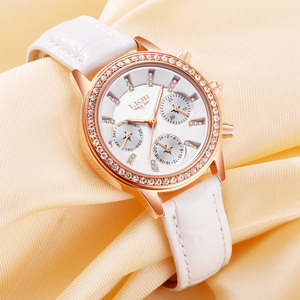 Image 2 - Relogio feminino Women Watches LIGE Luxury Brand Girl Quartz Watch Casual Leather Ladies Dress Watches Women Clock Montre Femme