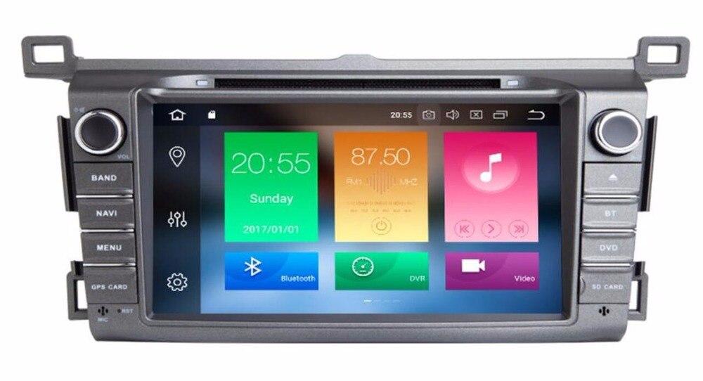 4g LTE 8 Voiture lecteur Multimédia Android 8.0 7.1 GPS Autoradio 2 Din Système Stéréo Pour toyota rav4 2013 2014 2015 2016 2017-2019