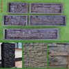 Set 5 ABS Plastic Molds For Concrete Plaster Wall Stone Tiles CONCRETE MOULD Brick Mold For