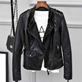 Famous Brand Women Clothing Super Fashion Women Autos Biker Air Leather Jacket and Coats Real Size Lady Leather Jacket New C441